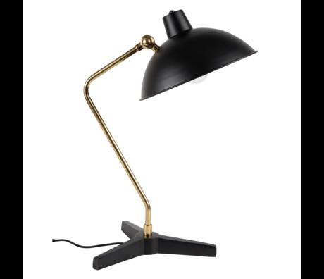 Dutchbone Table lamp Devi black gold metal 28x36x52cm