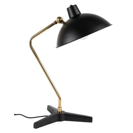 Dutchbone Tafellamp Devi zwart goud metaal 28x36x52cm