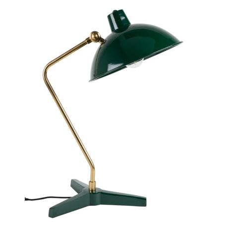 DUTCHBONE Lampe à poser Devi en métal doré vert 28x36x52cm