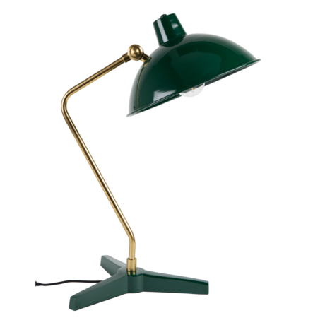 Dutchbone Tafellamp Devi groen goud metaal 28x36x52cm