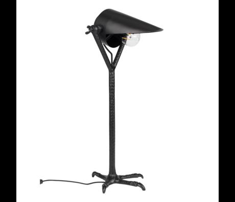 Dutchbone Lampe de table Falcon en métal noir 25x30x62cm