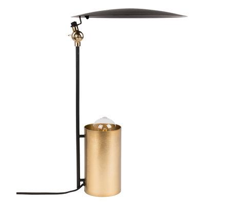 Dutchbone Tafellamp Julius zwart goud metaal Ø31x48cm