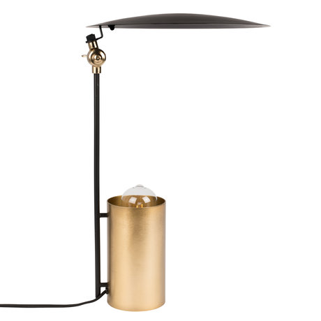 Dutchbone Table lamp Julius black gold metal Ø31x48cm