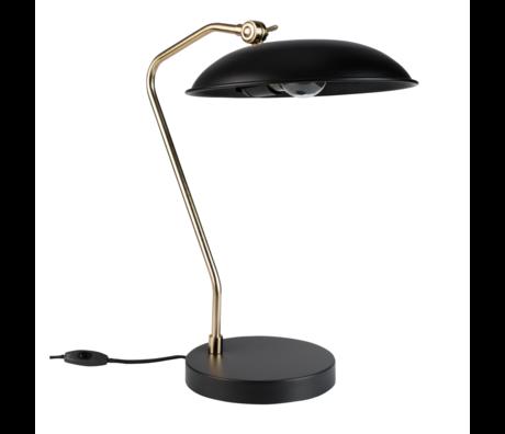 Dutchbone Lampe à poser Liam en métal doré noir 29x32.5x49.5cm