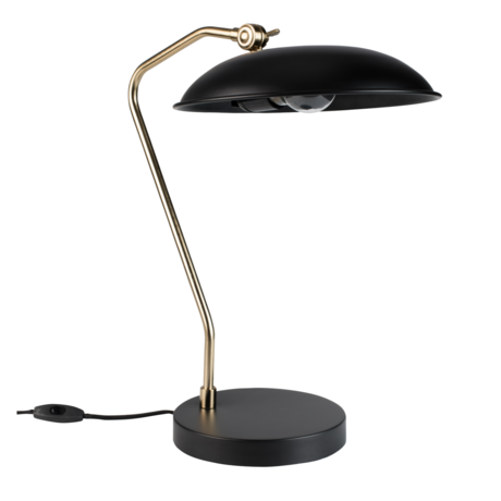 Dutchbone Tafellamp Liam zwart goud metaal 29x32,5x49,5cm