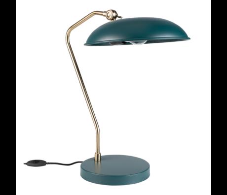 Dutchbone Table lamp Liam teal blue gold metal 29x32.5x49.5cm