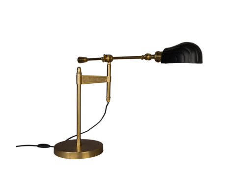 Dutchbone Table lamp Lily black gold metal 33x68.5x46-73cm