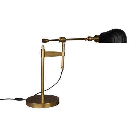 Dutchbone Lampe à poser Lily en métal doré noir 33x68.5x46-73cm