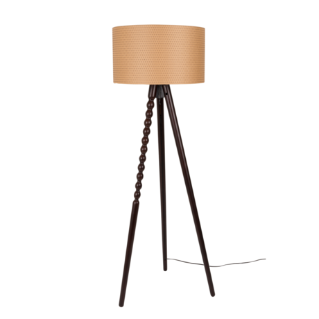 Dutchbone Floor lamp Arabica brown paper wood Ø50x154cm