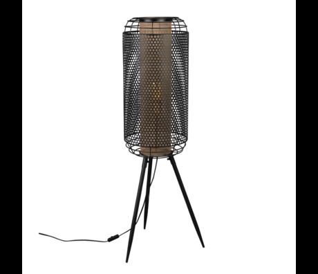Dutchbone Floor lamp Archer black brass metal XL 37.5x35x111cm
