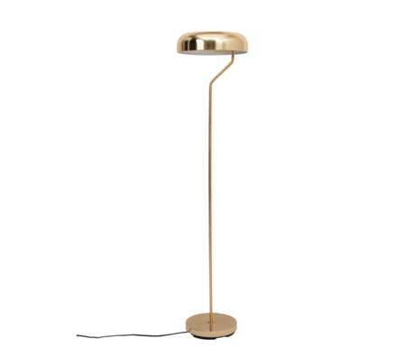 Dutchbone Eclipse brass gold metal floor lamp Ø30x130cm