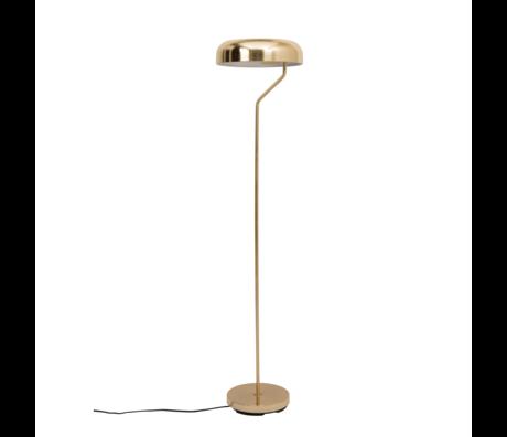 Dutchbone Vloerlamp Eclipse brass goud metaal Ø30x130cm