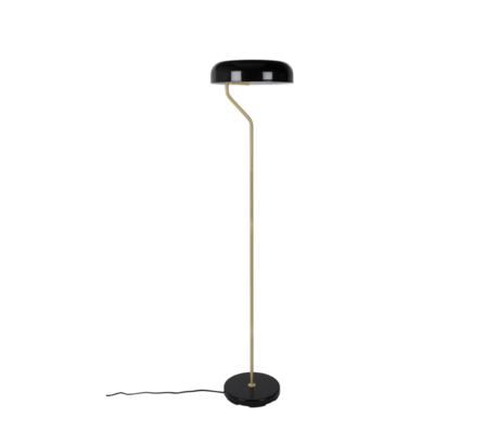 Dutchbone Floor lamp Eclipse black gold metal Ø30x130cm