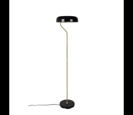 Dutchbone Lampadaire Eclipse en métal noir doré Ø30x130cm
