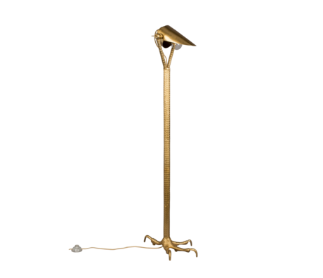 Dutchbone Lampadaire Falcon en laiton doré métal 27x39.5x137cm