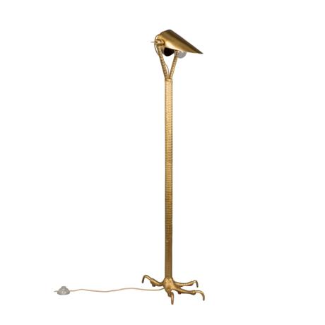 Dutchbone Floor lamp Falcon brass gold metal 27x39.5x137cm
