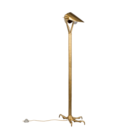 Dutchbone Vloerlamp Falcon brass goud metaal 27x39,5x137cm