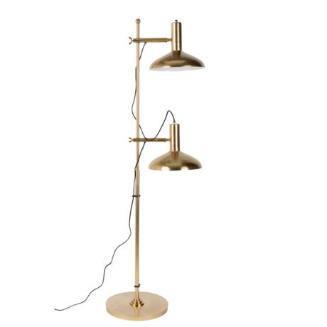 Dutchbone Floor lamp Karish brass gold metal 69x36x163cm