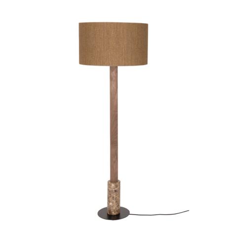 Dutchbone Memphis Stehleuchte braun Rattan Holz Marmor Ø50x148cm