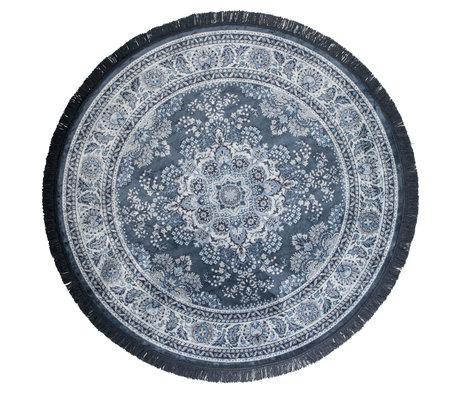 DUTCHBONE Tapis autour textile bleu Bodega ø175cm