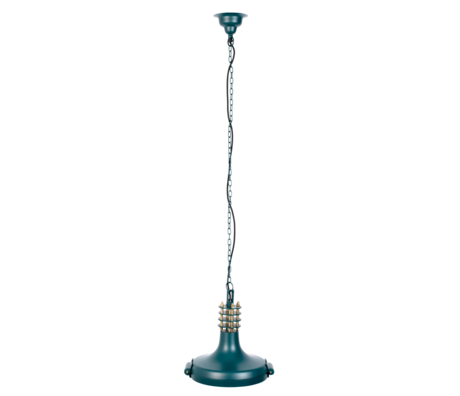 DUTCHBONE Hängelampe Spule blau grün Metall 35x30x138cm