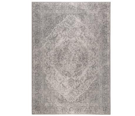 DUTCHBONE Vloerkleed Ravi grijs textiel 200X300cm