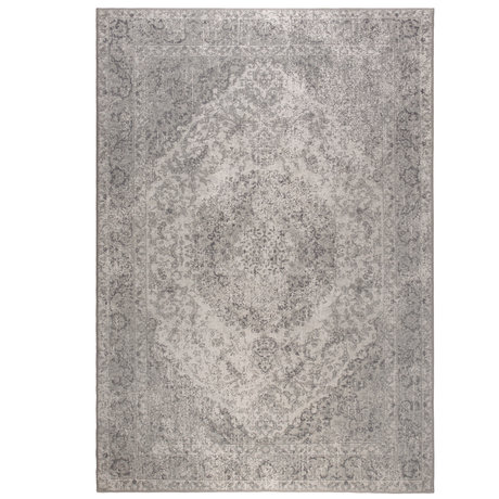 DUTCHBONE Teppich Ravi grau Textil 200X300cm
