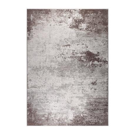 DUTCHBONE Caruso Teppich distressed braun Textil 170X240cm