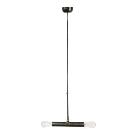 DUTCHBONE Doppio hanging lamp black metal 30.5x4.5x142.5 cm