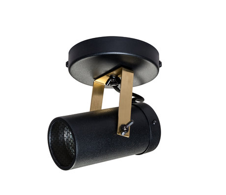 Dutchbone Spot Scope-1 DTW black brass gold metal 7.6x1.5 cm