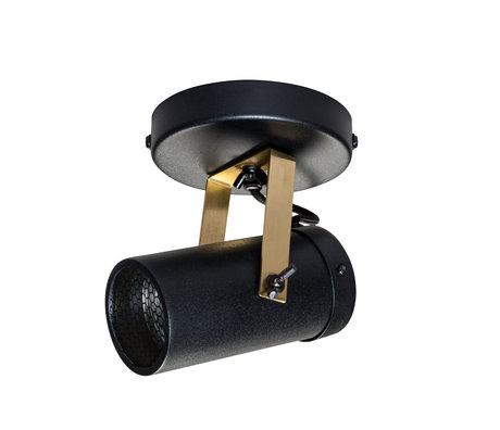 Dutchbone Spot Scope-1 DTW laiton noir métal doré 7,6x1,5 cm