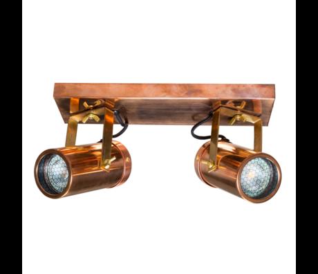 Dutchbone Spot Scope-2 DTW copper brass gold metal 24.8x8.5x1.9 cm