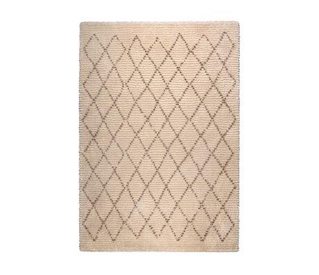 DUTCHBONE Vloerkleed Jafar bruin textiel 160X230cm