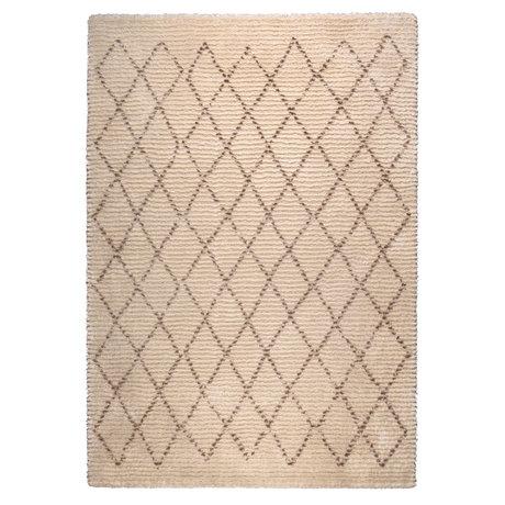 Dutchbone Rug Jafar brown textile 200X290cm