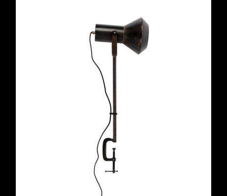 Dutchbone Lampe à poser Vox en métal noir 20x28x88cm