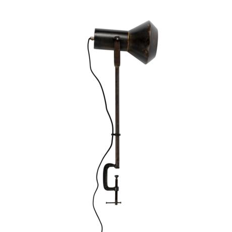 Dutchbone Tafellamp Vox zwart metaal 20x28x88cm