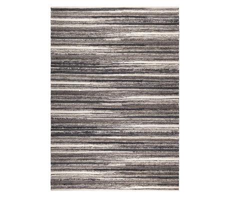 DUTCHBONE Tapis Carve textile anthracite naturel 170X240cm
