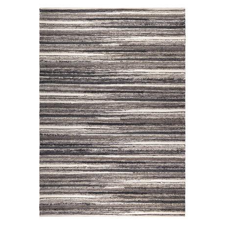 DUTCHBONE Vloerkleed Carve naturel charcoal textiel 170X240cm
