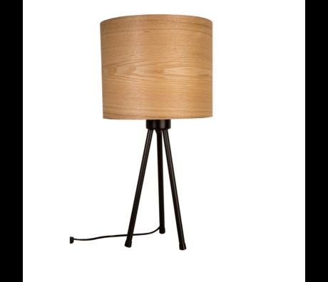 DUTCHBONE Tischleuchte Woodland naturbraun Holz Metall 30x60cm