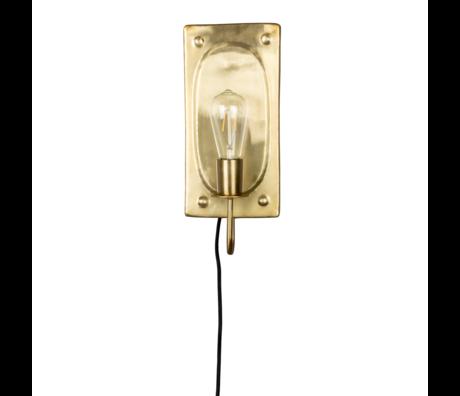 Dutchbone Applique Brody laiton métal doré 16x7.5x38cm