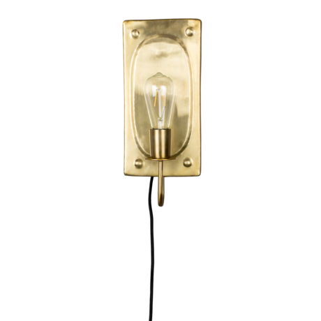Dutchbone Wall lamp Brody brass gold metal 16x7.5x38cm