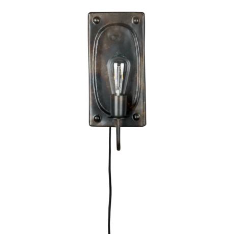 Dutchbone Wandlamp Brody vintage bruin metaal 16x7,5x38cm