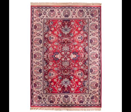 DUTCHBONE Tapis prière vieux textile rouge 200X300cm