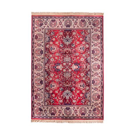 DUTCHBONE Tapis prière vieux textile rouge 170X240cm