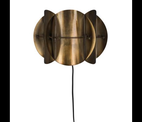 Dutchbone Wandlamp Corridor antiek brass goud metaal 27x13,5x19cm