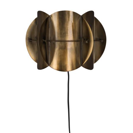 Dutchbone Applique murale couloir laiton antique doré métal 27x13.5x19cm