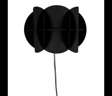 Dutchbone Wandleuchte Korridor schwarz Metall 27x13,5x19cm