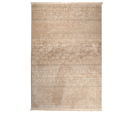 DUTCHBONE Rug Shisha brown textile forest 200X295cm