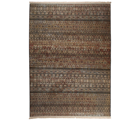 Dutchbone Tapis Shisha brun textile caverne 200X295cm