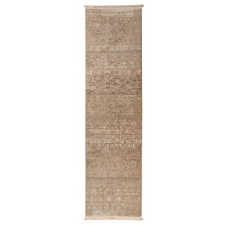 Dutchbone Vloerkleed Shisha bruin textiel forest 67X245cm